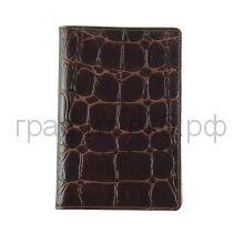 Обложка для паспорта Grand 02-002-3223 кайман коричневая кожа