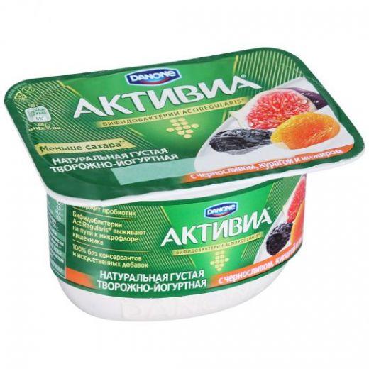 Кисломолочная Активиа Danone творожная чернослив-курага-инжир 4,2% 130Г