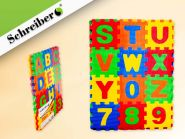 "Коврик-пазл ""Английский алфавит"", 36 фрагментов, 9х9 см (арт. S 3044)"