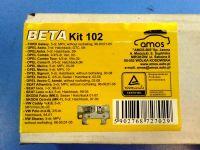 Багажник на крышу OPEL Meriva (5-dr MPV) 03-10, Amos Beta, крыловидные дуги, черный цвет
