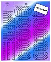 Зеркальные наклейки Blue Opal 18 Dream Nails (водные наклейки)