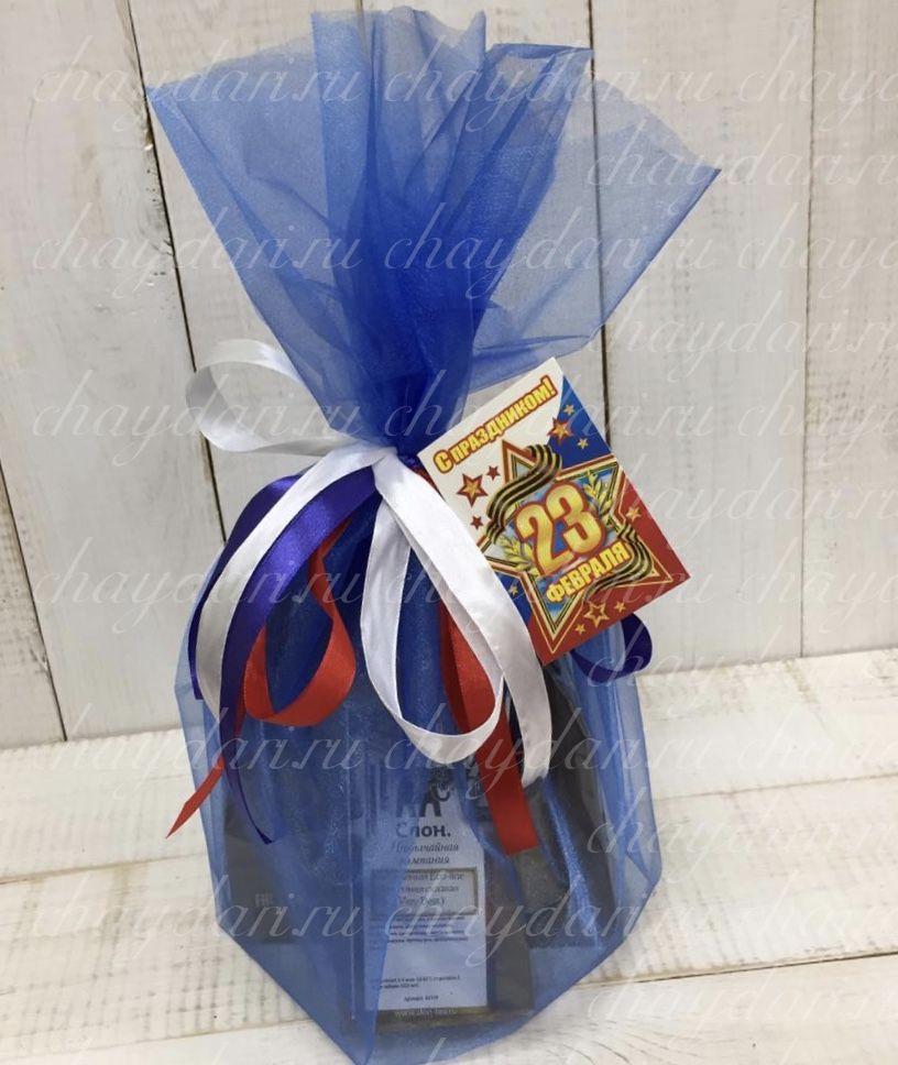 """Подарок из чая и кофе """"С 23 февраля!"""""""