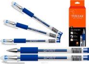 Ручка гелевая, 0.5 мм, синие чернила, с грипом, прозр. корп. (арт. TZ 5224)
