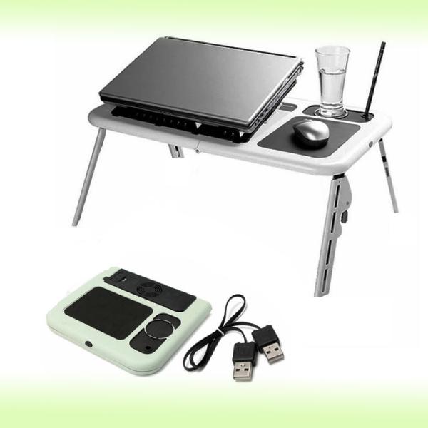 Компактный столик для ноутбука с кулером E-Table