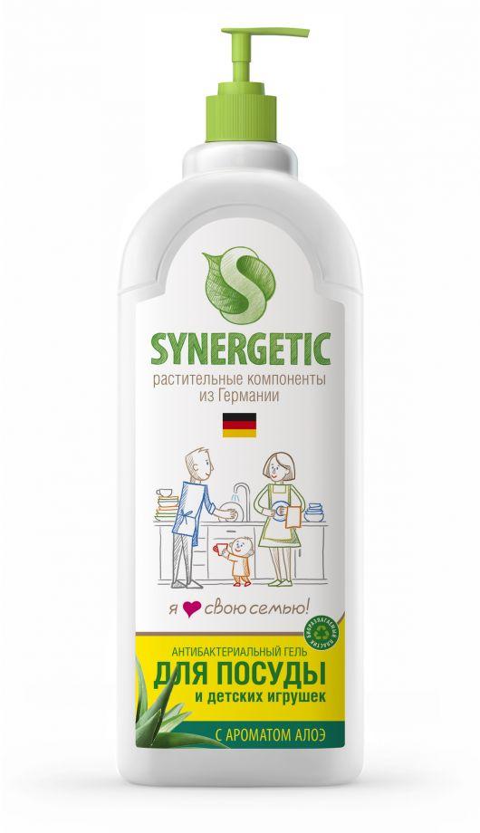 ЭКО Synergetic Средство концентрированное для мытья посуды и фруктов АЛОЭ, флакон, 500 мл