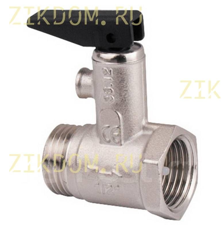 """Клапан предохранительный для водонагревателя 1/2"""" без аварийного сброса"""