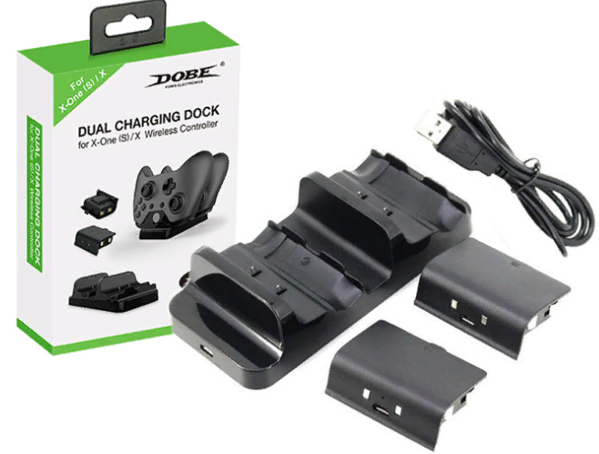 Зарядная станция Dual Charging Dock Dobe TYX-532 (Xbox One S / X) Черная