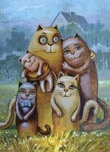 Почтовая открытка Family.