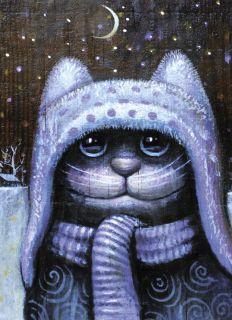 Почтовая открытка Зима пришла