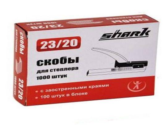 Скобы для степлера Shark, 23/20, 1000шт. в упаковке