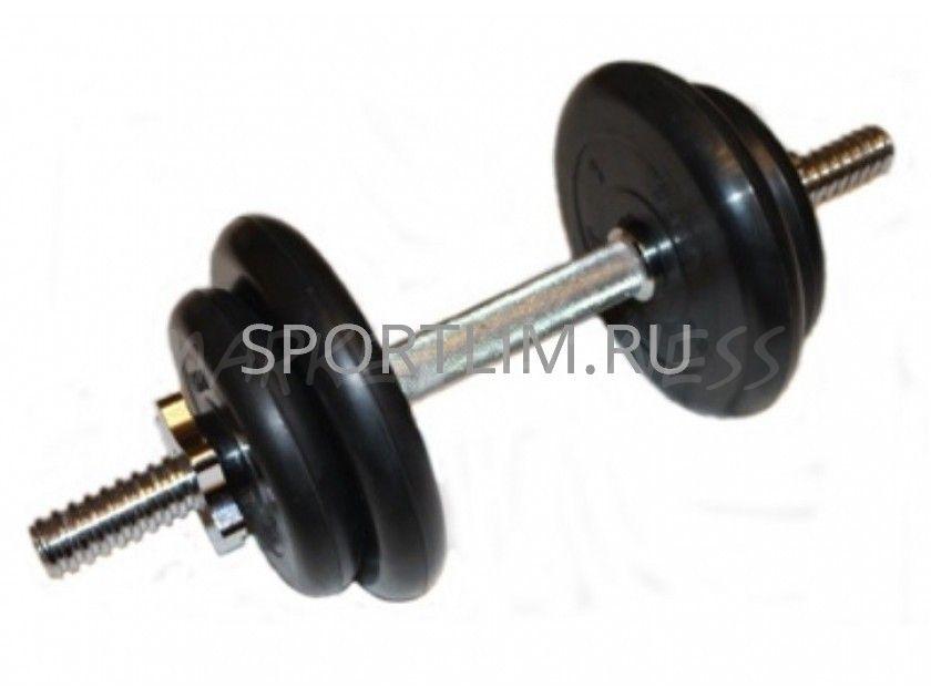 Гантель MB Barbell Atlet d.25мм 10 кг (хромированный гриф)