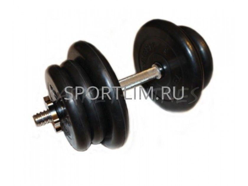 Гантель MB Barbell Atlet d.25мм 22.5 кг (хромированный гриф)