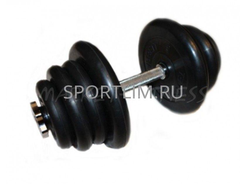 Гантель MB Barbell Atlet d.25мм 25 кг (хромированный гриф)