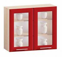 Шкаф навесной 2х дверный стекло