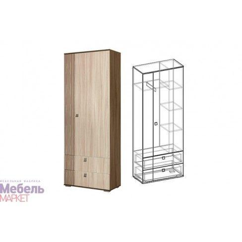 Шкаф 2 створчатый Богемия (801x2100x390)