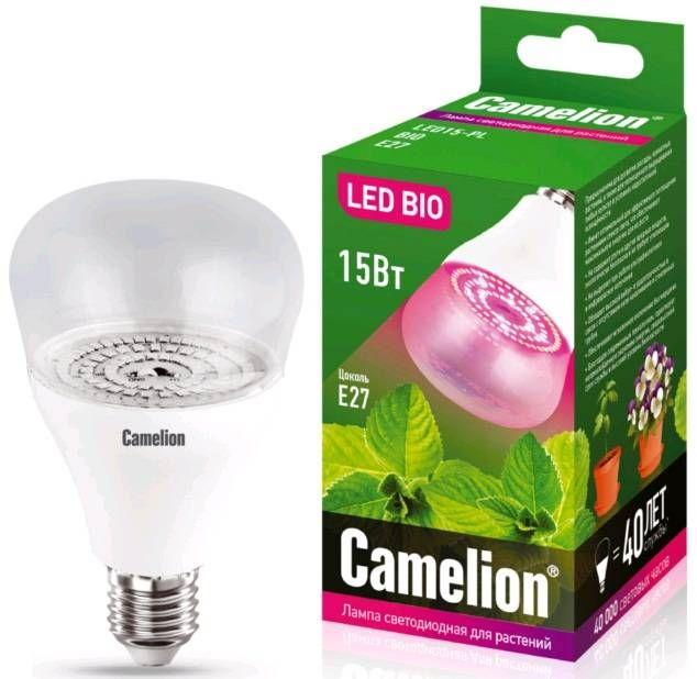 Лампа для растений Camelion 15W LED15-PL/BIO/E27