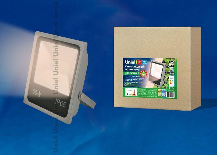 Прожектор для растений Uniel 50W ULF-P40-50W/SPFR IP65