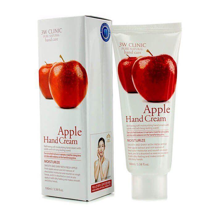 [3W CLINIC] Крем д/рук увлажняющий с экстрактом ЯБЛОКА Apple Hand Cream, 100 мл