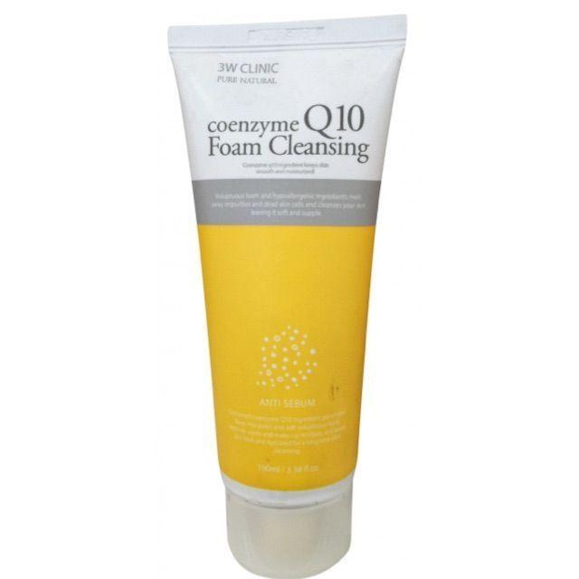 [3W CLINIC] Пенка для умывания КОЭНЗИМ Q10 Coenzyme Q10 Foam Cleansing, 100 мл