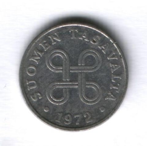 1 пенни 1972 года Финляндия