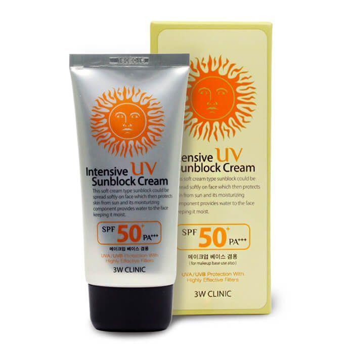 [3W CLINIC] Солнцезащитный крем Intensive UV Sun Block Cream SPF 50+ PA+++, 70 мл