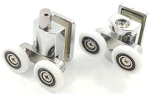Ролик для душевой кабины Timo (тимо) iddis МЕТАЛЛ  (комплект 4шт)  Диаметр колеса (от 18,6 до 28мм)