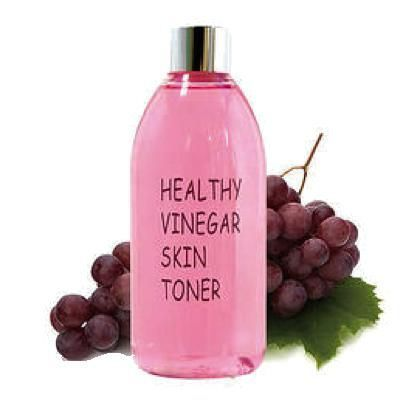 Тонер антивозрастной для лица с экстрактом винограда REALSKIN  Healthy vinegar skin toner (Grape wine), 300 мл