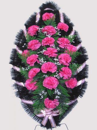 Траурный венок из искусственных цветов #28