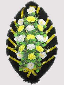 Траурный венок из искусственных цветов #23