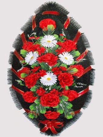 Траурный венок из искусственных цветов #18