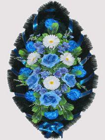 Траурный венок из искусственных цветов #16