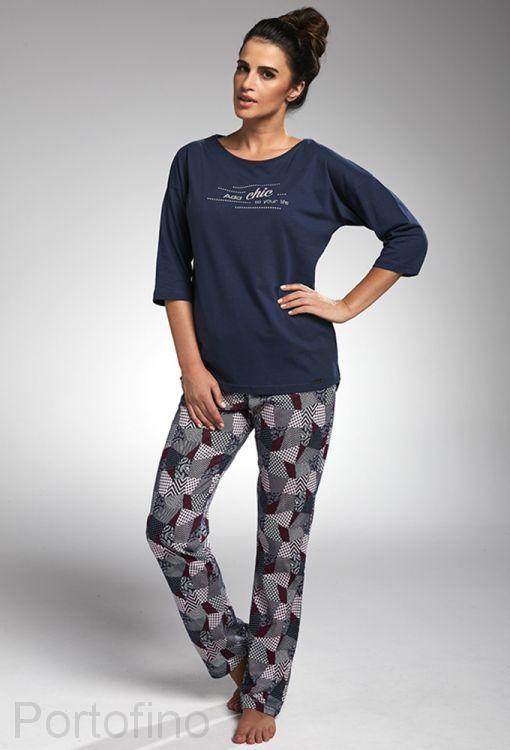 144-175 женская пижама длин.рукав Cornette