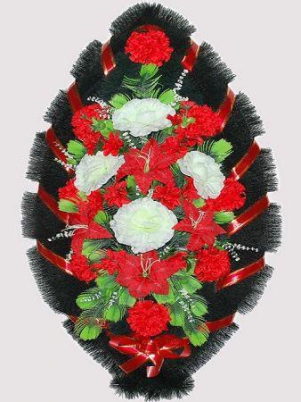 Траурный венок из искусственных цветов #12