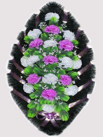 Траурный венок из искусственных цветов #7
