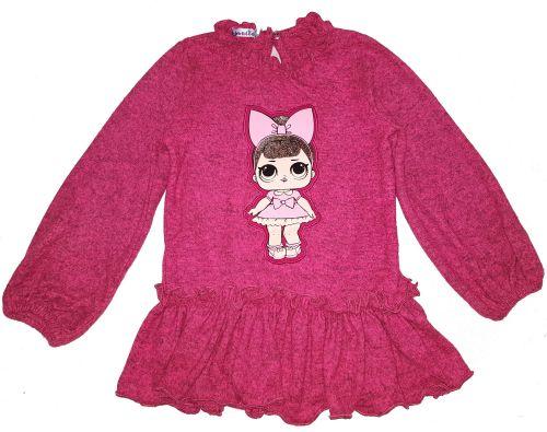 """Платье-туника для девочек """"LOL"""" 2-6 лет OP251-2"""