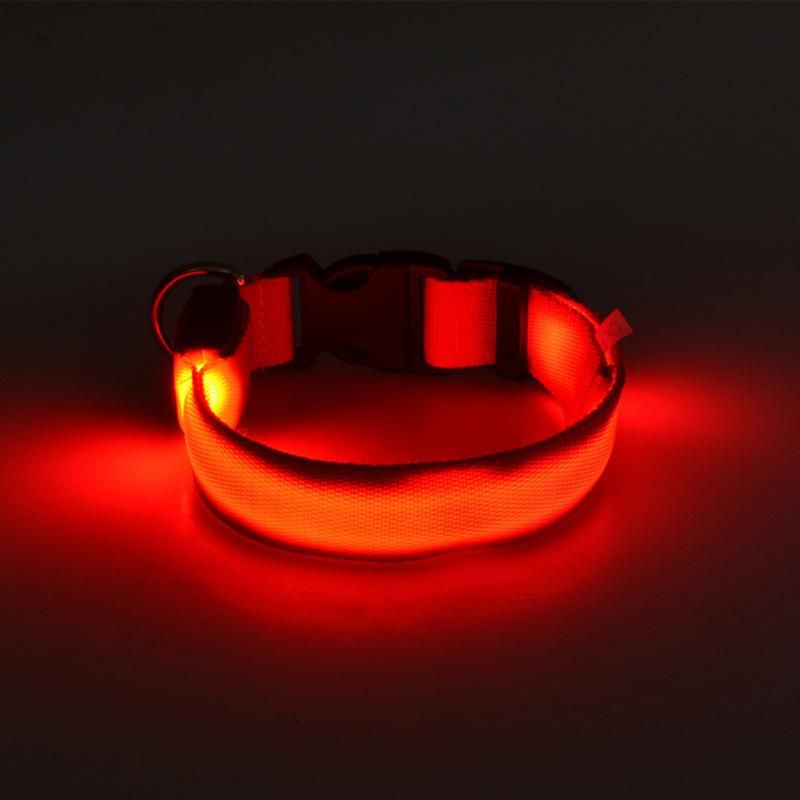 Светящийся Ошейник, Цвет Красный