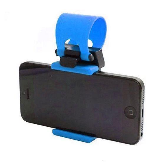 Держатель для телефона на руль, цвет синий