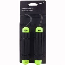 Скакалка Nike Weighted Rope 2.0 чёрно-салатовая