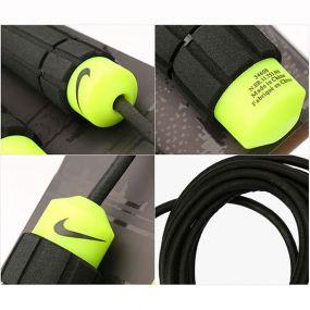 Скакалка Nike Weighted Rope 2.0 чёрно-салатовая
