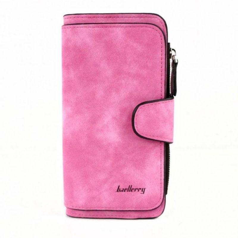 Женский замшевый кошелёк Baellerry Forever, розовый