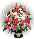 Ритуальная корзина из искусственных цветов N12, РАЗМЕР 60см, 80см,90 см