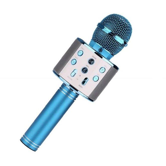Караоке Микрофон WS-858, Цвет Синий