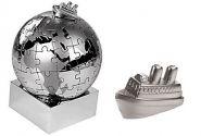 Пазл в виде земного шара с кораблём (арт. 479030)