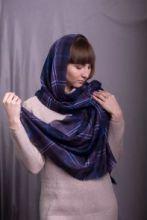 """шотландский тонкорунный легкий широкий палантин (шарф) Альба, 100% шерсть- тонкая нить мулине , расцветка """"Шотландия навсегда""""  ALBA  SCOTLAND FOREVER плотность 2"""