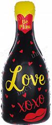 Бутылка love фольгированный шар с гелием