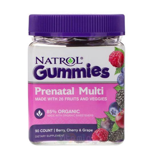 Natrol Gummies Витамины для Беременных со вкусом Ягоды, Вишни и Винограда, 90 штук