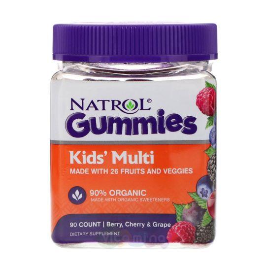 Natrol Gummies Детские Мультивитамины со вкусом Вишни и Винограда, 90 штук