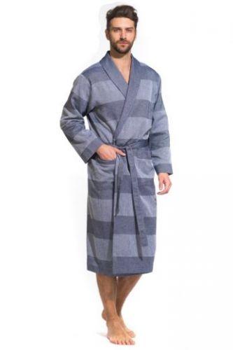 Легкий мужской халат Pur Organique синий
