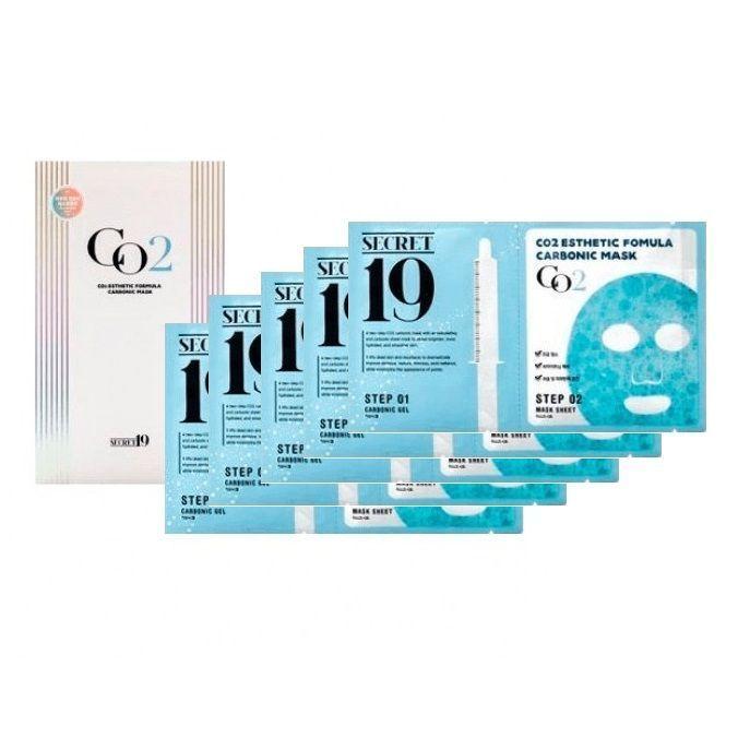 МАСКА КАРБОКСИТЕРАПИЯ CO2 ESTHETIC HOUSE Esthetic Formula Carbonic Mask, 5шт