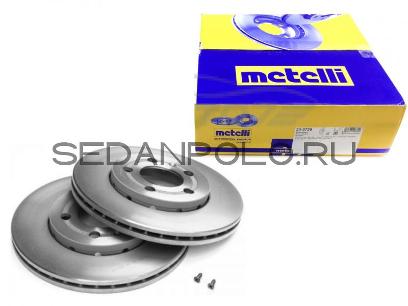 Тормозной диск Metelli Volkswagen Polo Sedan 1ZE/1ZG